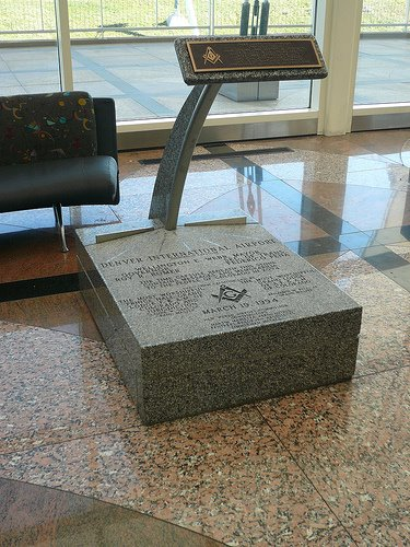 corner stone Sinister Sites   The Denver International Airport