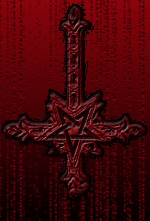 Inverted cross and inverted Antichrist Cross Symbol