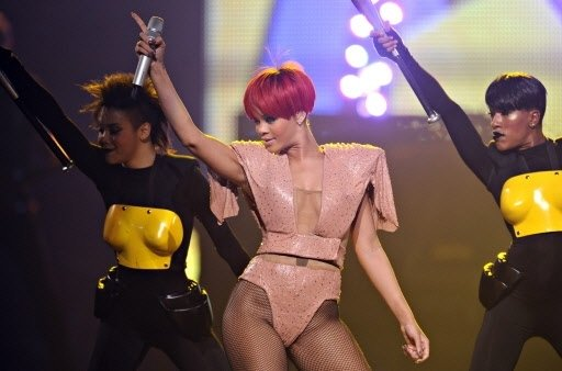 Pics from Rihanna's Show: All About Police State and Transhumanism  3