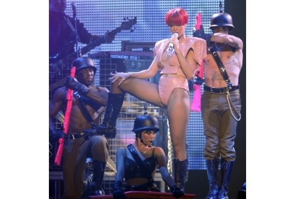 Pics from Rihanna's Show: All About Police State and Transhumanism  4