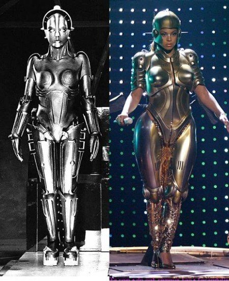 """beyoncerobot2 e1288061886971 The Occult Symbolism of Movie """"Metropolis"""" and its Importance in Pop Culture"""