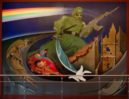 Analysis of the Occult Symbols Found on the Bank of America Murals  denver airport mural e1290284492917
