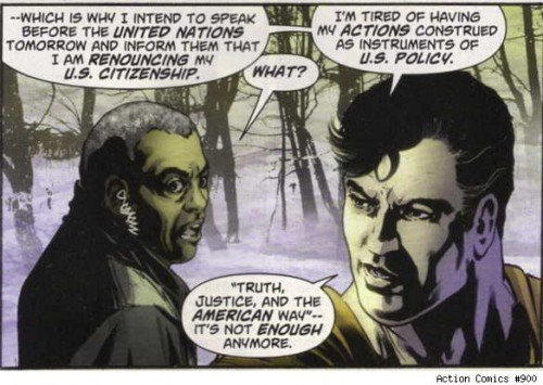 Superman to renounce U.S. citizenship before the U.N.?