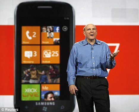 Spying: Microsoft CEO Steve Ballmer talks about the Windows 7 phone which is said to have devices which can track its customers