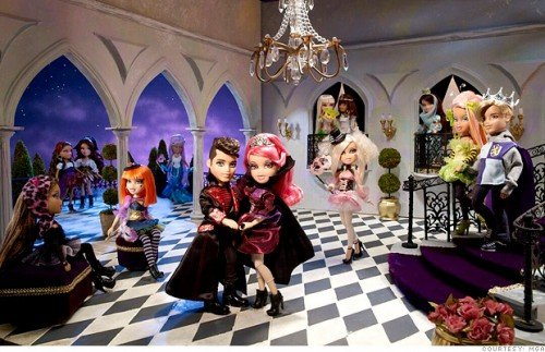 Bratz Dolls in Illuminati Masquerade Ball