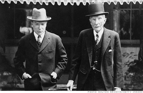 From left to right: John D. Rockefeller Jr. and John D. Rockefeller.