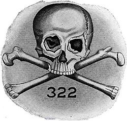 Official Skull and Bones logo prominently featuring the number 322.