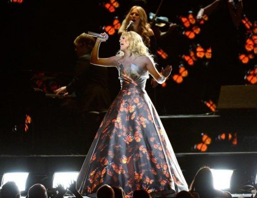 Carrie Underwood's performance ended with a bunch of Monarch butterflies leaving her dress - the ultimate symbol for Monarch Programming. The song she was performing, Blown Away, is about her killing an abusive father - something that can refer to the concepts of trauma-based MK and dissociation. The music video of the song also subtly refers to The Wizard of Oz (an MK programming tool).