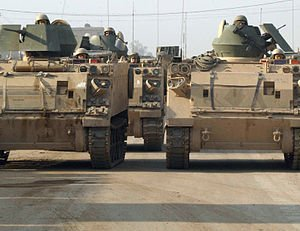 Armored Personnel Carriers in Baghdad.