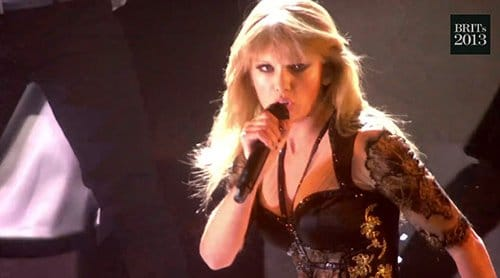 "Taylor is now dressed in black, symbolizing her initiation. The ""good girl gone bad"" narrative is complete, once again."