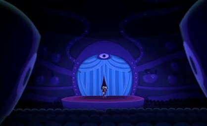 "Operatta's stage is ""overseen"" by a prominent All-Seeing Eye."