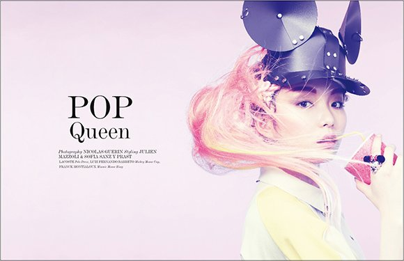"Vestal magazines photoshoot appropriately entitled ""Pop Queen"" is all about Mickey Mouse programming."