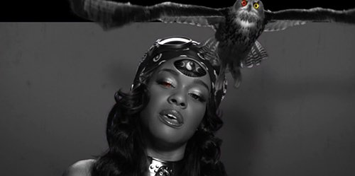 An owl with an eye of a different color flies out of Azealia's head, who also has one eye of a different color. Yes, another one-eye signal by a pop artist. Also, the owl is the most ancient symbol representing the Illuminati (also, see the symbol of the Bohemian grove). Does the fact that it flies out of her head represent the fact that she's been brainwashed by Illuminati?