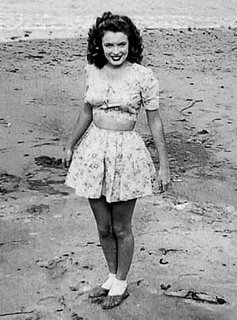 Marilyn as a teenager.