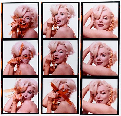 "In Stern's book The Last Sitting, the photographer chose to include pictures that were crossed out by Marilyn because they were deemed unsatisfactory. Knowing that she would be ""crossed out"" a few weeks later, these pics are somewhat representative of a life and a career based on image and not being herself."