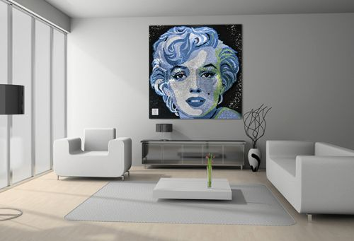 "Rihanna spent $100,000 on this 5-feet Swarovsk portrait of Marilyn Monroe. As seen in my article on Marilyn Monroe, those who represent Beta Programming in today's entertainment industry are all (programmed to be) ""obsessed"" with Monroe."