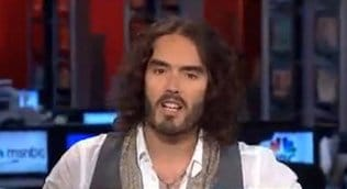 Russell Brand Ridicules Mainstream Media Anchors on MSNBC (video)