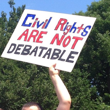 While civil rights are indeed being debated, relativized, minimized and completely ignored. The Constitution as well.