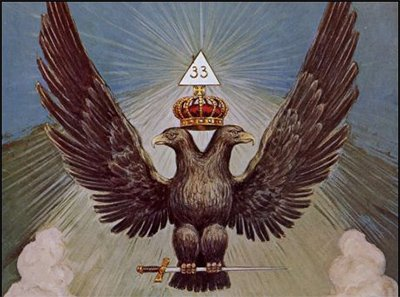 The double-headed eagle is one of the most ancient and prominent symbol of Freemasonry. A crowned double headed eagle is representative of the 33rd degree of Freemasonry, the highest degree attainable. With the symbol on the High Priest's throne, Kubrick secretly implies that the he's a 33rd Degree Freemason.