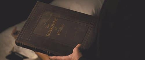 "In the movie, one of the book used to research The Eye is called ""The Guardians of Horus""."