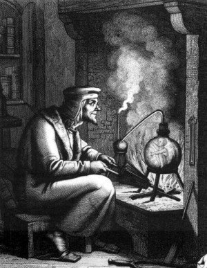 19th century engraving of Homunculus from Goethe's Faust part II