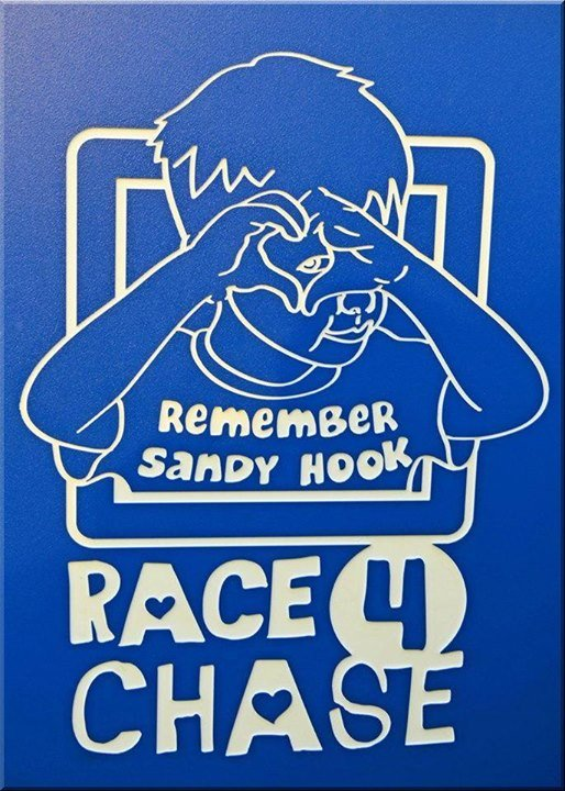 Here's the logo of Race 4 Chase - a Sandy hook victim. My stomach is queezing.