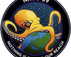 "Logo of New NRO Spy Satellite: An Octopus Engulfing the World with the Words ""Nothing is Beyond Our Reach"" Underneath"