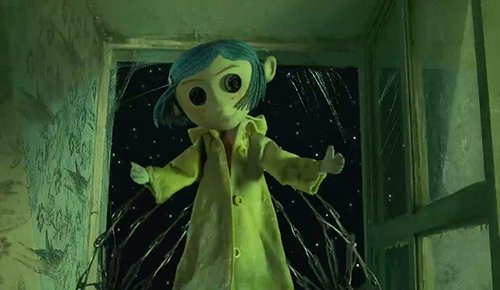 It is then refilled by the handler and made to look like Coraline. The creation of the alter persona is symbolically complete.