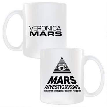 Veronica Mars is a popular TV series (and now a movie) about a teenage private investigator. Her logo is a symbol you'll probably recognize. You can also get this awesomeness on a coffee mug!