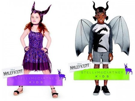 Speaking of Illuminati for kids, here are costumes inspired by the movie Maleficent. Sure, let's all put horns on our children's heads.