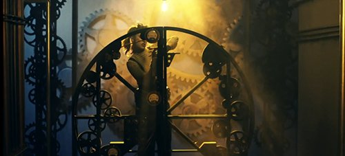 Surrounded by spinning gears, Lzzy makes sure that the ballerina spins smoothly.