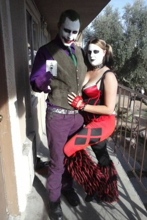 The couple apparently loved dressing up as the Joker from Batman.
