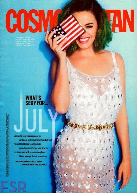 Another magazine cover, another one-eyed salute. Remember that all of these covers were released only in the past few weeks. In Katy's case, they're using Independence day to salute the occult elite.