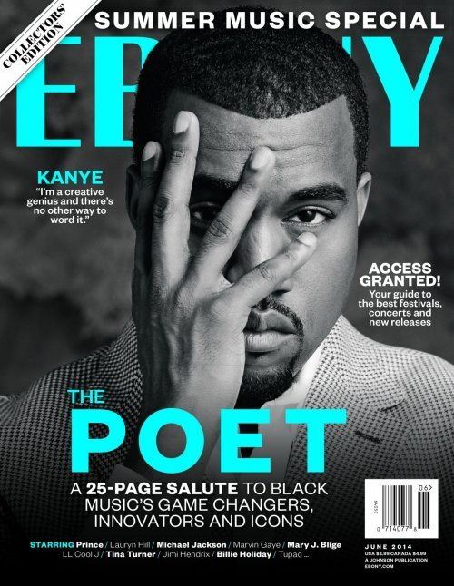 The June edition of Ebony released four magazine covers dedicated to the four top black entertainers. Coincidentally, they're pretty much the four top black Illuminati pawns. To make things even more blatant, Kanye hides one eye for no particular reason (except for telling you he's an Illuminati pawn).