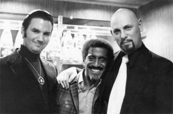 "Sammy Davis Jr. with Anton LaVey, the head of the Church of Satan - a powerful organization that put a ""Hollywood"" facade on hardcore Satanism."