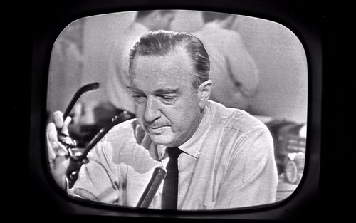 The moment when a shaken Walter Cronkite removed his glasses and announced the death of JFK is probably one of the most intense moments in television history. It also marks the transition period between old-time written news and live television coverage.