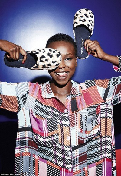 "Model Yaya Deng is a finalist of the Australian reality show The Face. Well, she is now ""the face"" of the Illuminati industry with a one-eyed salute ... But wait, maybe its a coincidence. I sometimes hold my slippers this way, it pretty cool and comfortable."