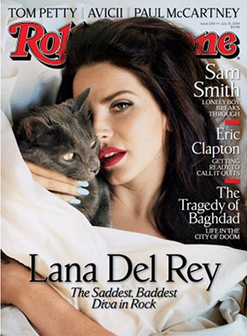 "Here she is on the cover of Rolling Stone magazine with a car hiding one of her eyes - an apt way of referencing Kitten Programming. In Complex magazine, Lana stated : ""You know, I have slept with a lot of guys in the industry, but none of them helped me get my record deals. Which is annoying."" Spoken like a true Sex Kitten."