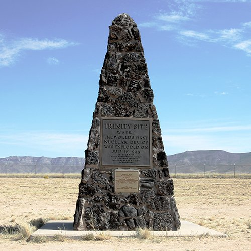 The Trinity Site Obelisk is located at the 33rd latitude.