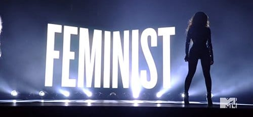 I am not a big fan of any term that finishes with -ist. And I do know why Beyonce is standing in front of it.