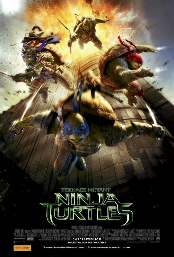 This Ninja Turtles poster has upset some people. As you can see, the release date on the poster is September 11. And the poster features the turtles jumping out of a building on fire, similar to how some people were filmed jumping out of the WTC to their death on September 11th 2001. Was this a coincidence or another sick way the industry celebrated the biggest mega-ritual in history?