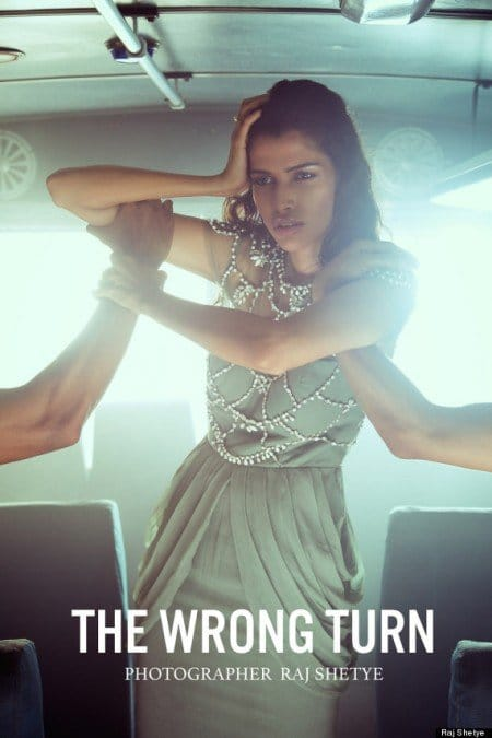 "The fashion shoot entitled ""The Wrong Turn"" by photographer Raj Shetye does what the fashion industry loves to do : Making abuse fashionable. This photoshoot is clearly inspired by the 2012 gang r**e that occured in a bus in New Delhi which led to the death of the victim."