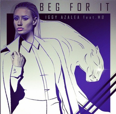 The cover of the single Beg For It features Azalea and a feline behind her - her Beta Kitten alter persona.