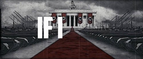 This is a replica of the Brandenburg gate during Nazi Germany. Only difference, there's Minaj's big booty atop of it.
