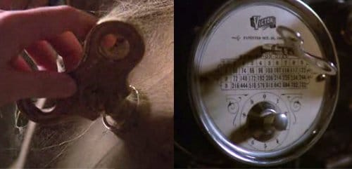 The movie provides a clear confirmation of the link between Tik Tok and the electroshock machine by focusing on their winding up key at different points on the movie.