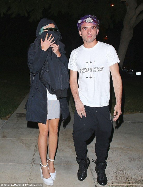 """As stated in my last article on Amanda Bynes, she is now under conservatorship of her parents. She was recently seen with JJ Brine who appears to be her new handler. He is an """"artist"""" who claims to be """"possessed by a demon"""" and whose last album was called """"Charles Manson is Jesus Christ"""". The name of one of his singles was """"Monarch Butterfly"""", which pretty much confirms his association with Monarch programming. On his shirt is written """"The Devil is Lord, The Lord is the Devil"""". Yeah, that's the MK system for you."""