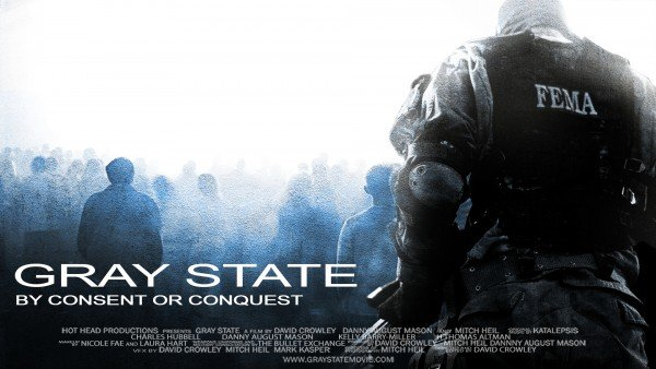 A poster of the unreleased movie Gray State.