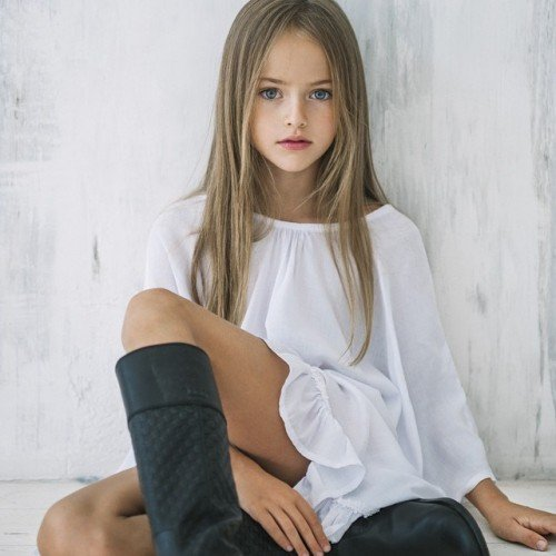 "Christina Pimenova is a 10 year old ""supermodel"" and was dubbed ""the most beautiful girl in the world"". Her social media accounts are followed by over 2 million morons and feature a variety of pics of her that clearly sexualized and exploitative."