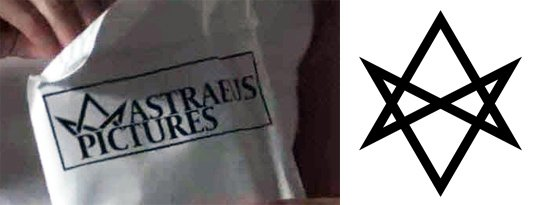 Left : The logo of Astraeus Pictures. Right : A full unicursal hexagram.