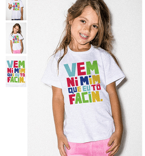 "This shirt sold in Brazil caused an uproar because it was basically an invitation to child abuse. The phrase ""Vem ni mim que to facim"" can be translated to ""come in me"" and only a sick person would put that on t-shirt worn by children."